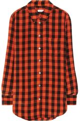 Equipment Reese Plaid Washed-silk Shirt - Lyst