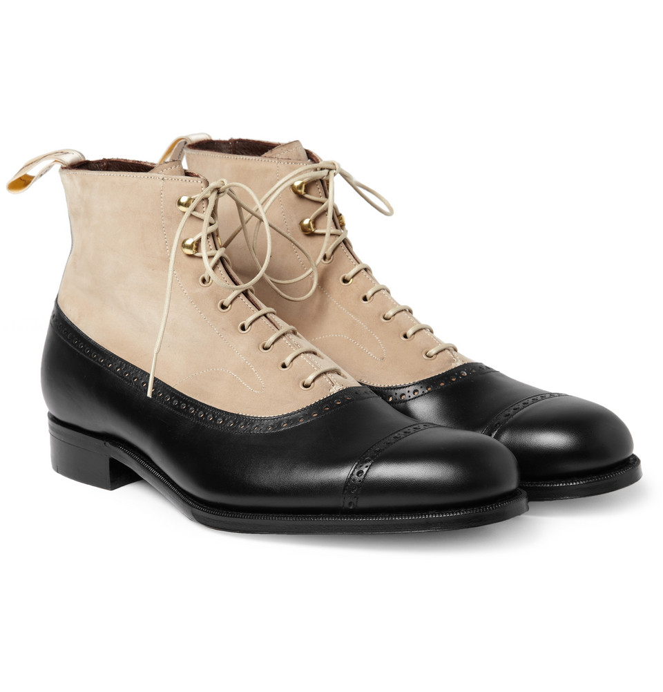 Beige Leather Mens Shoes