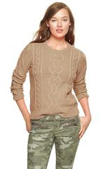 Gap Cable Knit Pullover - Lyst