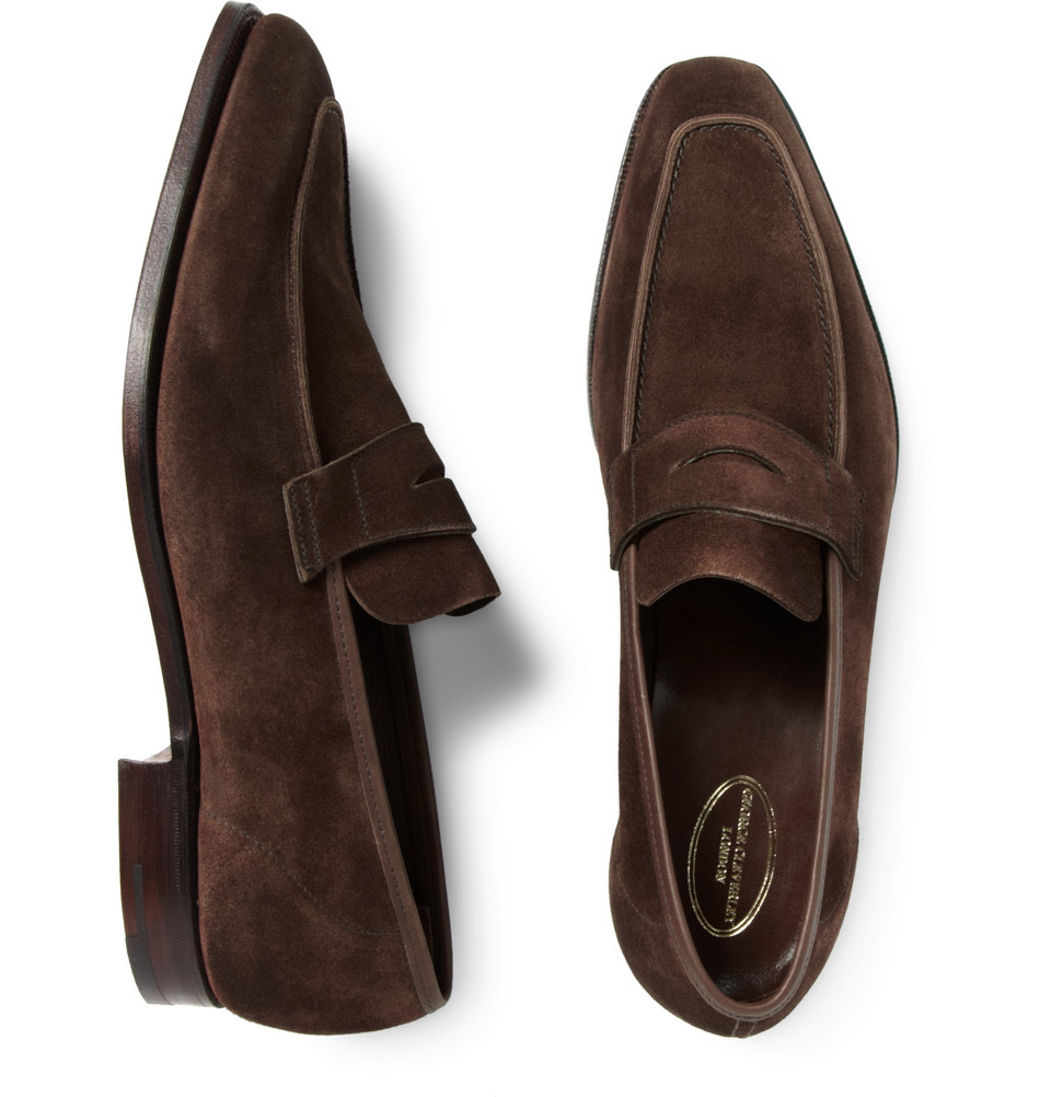 George Suede Penny Loafers - BrownGeorge Cleverley cyvuj2lD
