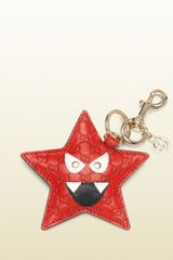 Gucci Starry Microssima Leather Charm - Lyst