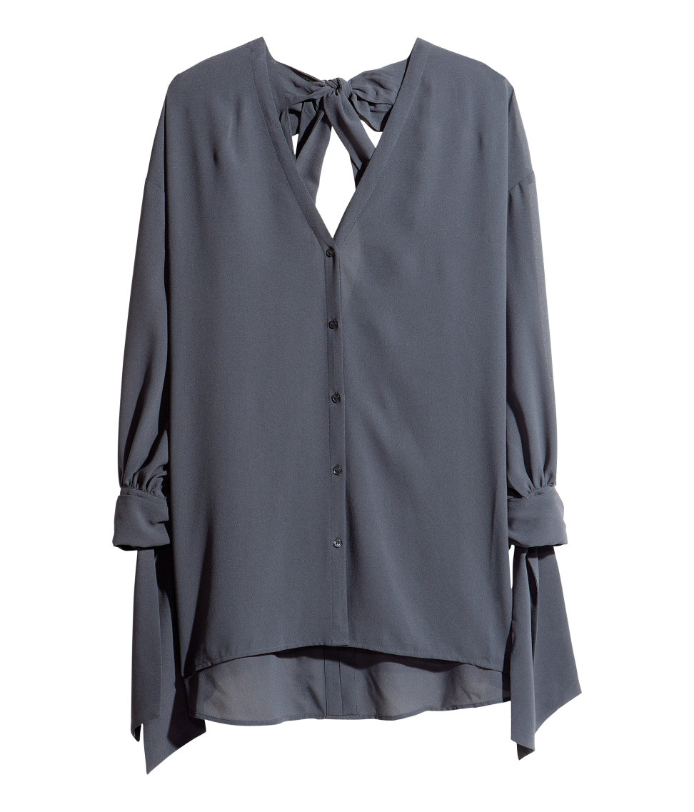 H And M Grey Blouse 109