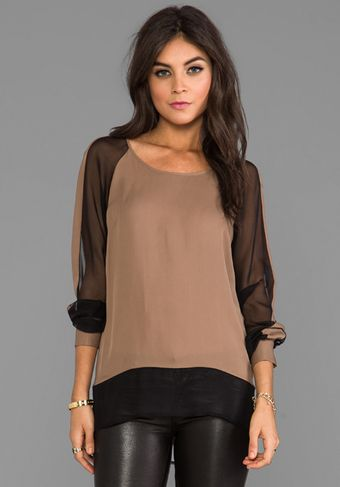 Jay Godfrey Branksome Top in Taupe - Lyst
