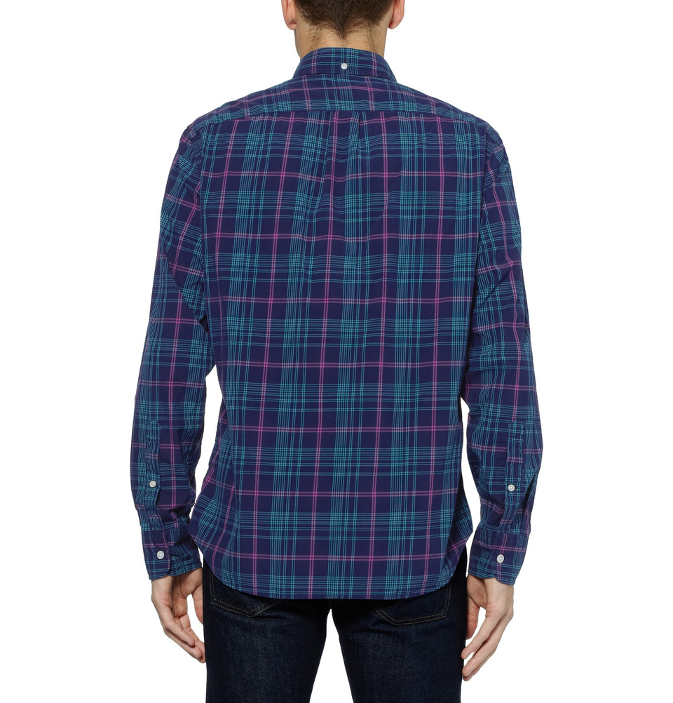 Lyst Check Cotton Button Down Collar Shirt In