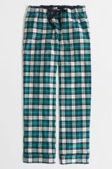 J.Crew Factory Plaid Flannel Pajama Pant - Lyst