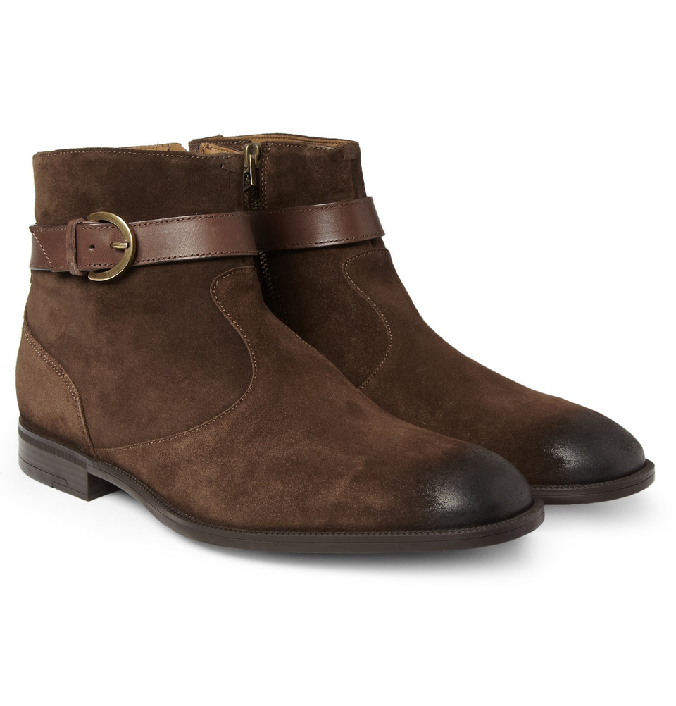 jimmy choo bryant suede chelsea boots in brown for men lyst. Black Bedroom Furniture Sets. Home Design Ideas