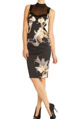 Karen Millen Shattered Flower Print Dress - Lyst