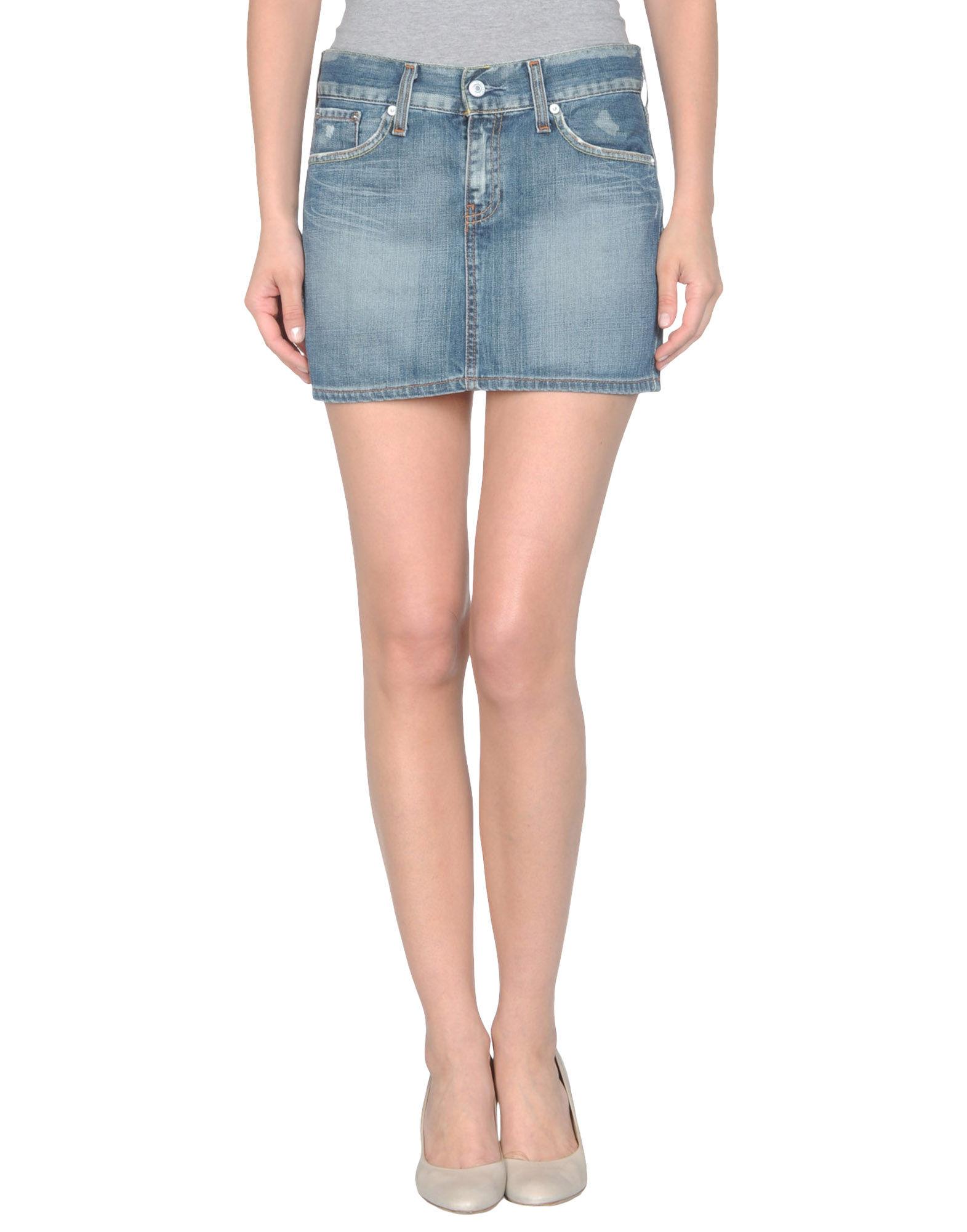 levi s denim skirt in blue lyst