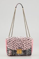 Marc Jacobs Polly Mini Snakeskin Shoulder Bag Pinkblackmulti - Lyst