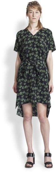 Marni Silk Flower Print Dress - Lyst