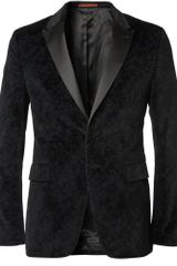 PS by Paul Smith Slimfit Printedvelvet Tuxedo Blazer - Lyst