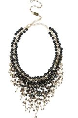Rosantica Zampillo Goldplated Onyx and Quartz Necklace - Lyst