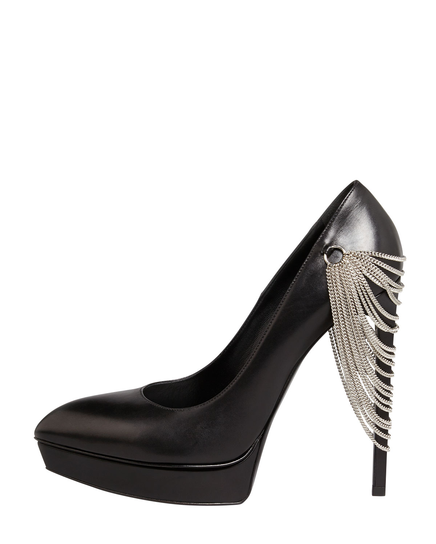 embellished pointed pumps - Black Saint Laurent 4HOVlWlhy