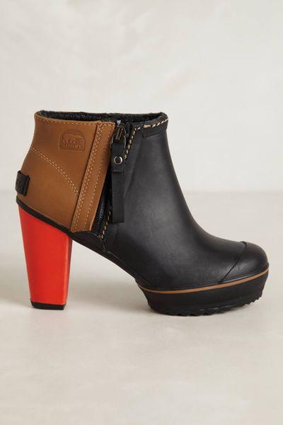 Sorel Medina Rain Ankle Boots In Black Lyst