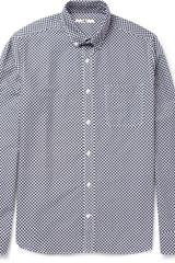 YMC Checkprint Cotton Oxford Shirt - Lyst