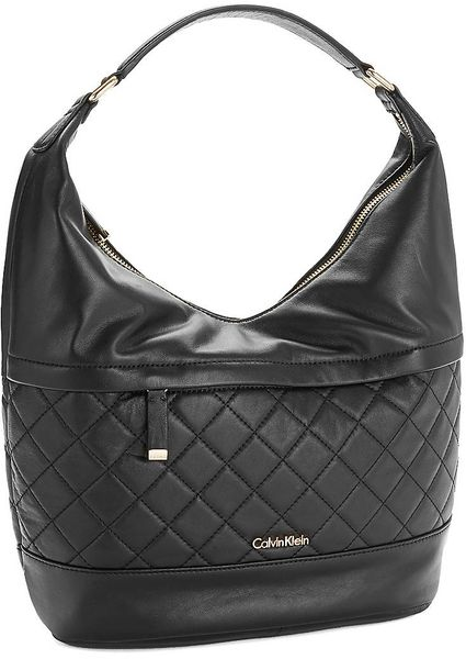 Calvin Klein Quilted Hobo Bag In Black Lyst