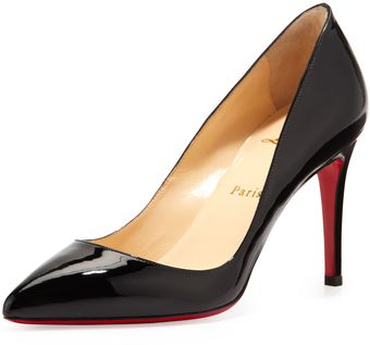 Christian Louboutin Pigalle Patent Red Sole Pump Black - Lyst