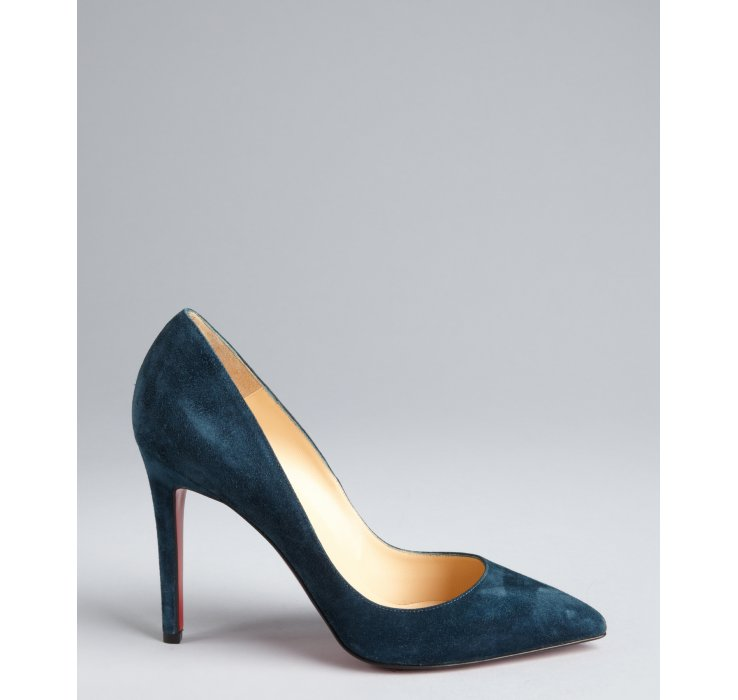 christian louboutin Pigalle pumps Dark blue and black pointed toes ...
