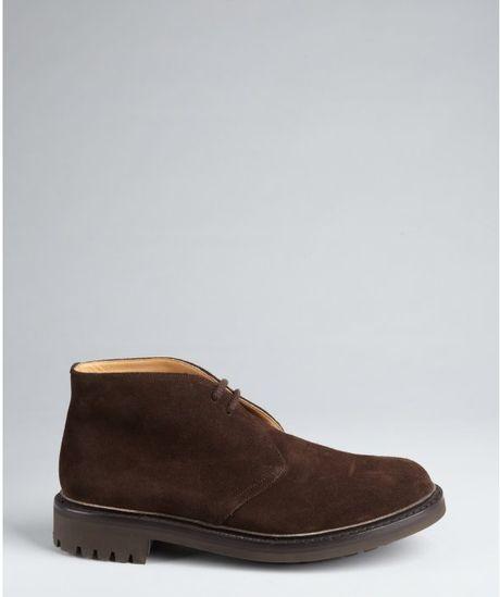 Church S Dark Brown Suede Chukka Boots In Brown For Men Lyst
