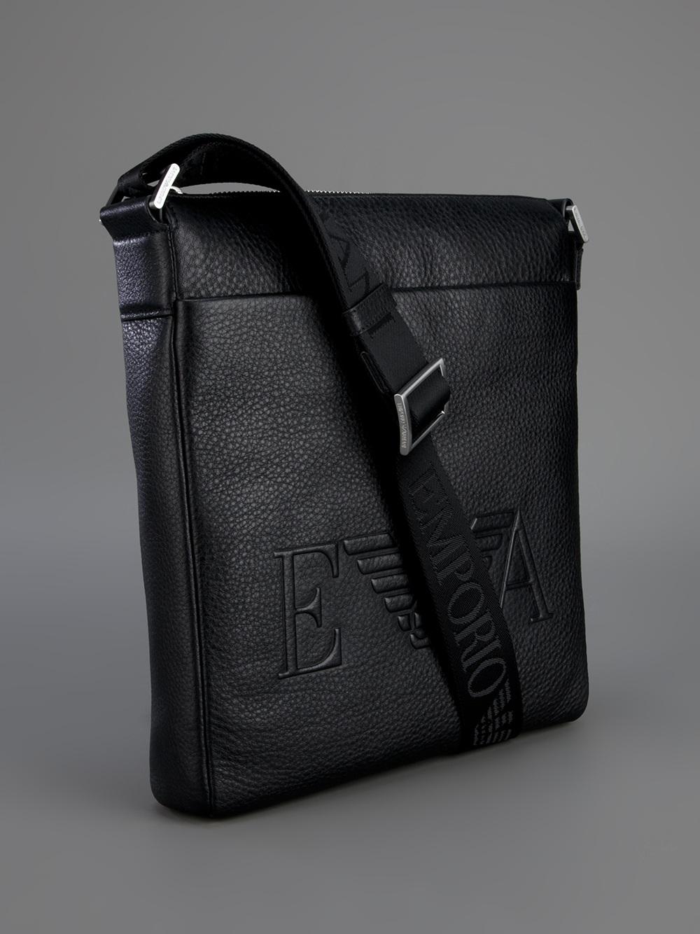Lyst - Emporio Armani Messenger Bag in Black for Men 3b93c85a210f5