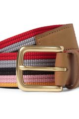 Folk Striped Leather Trimmed Belt - Lyst