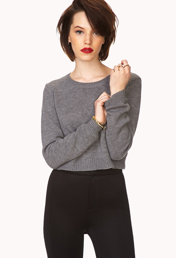 Lyst - Forever 21 Must-have Cropped Sweater You've Been ...