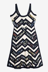 Hervé Léger Pattern Bandage Dress - Lyst
