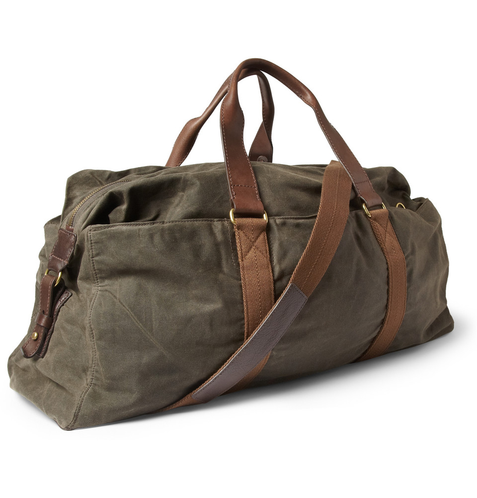 Lyst J Crew Abingdon Waxed Cotton Canvas And Leather
