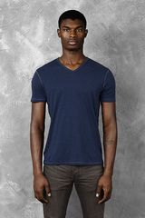 John Varvatos Short Sleeve V-neck - Lyst