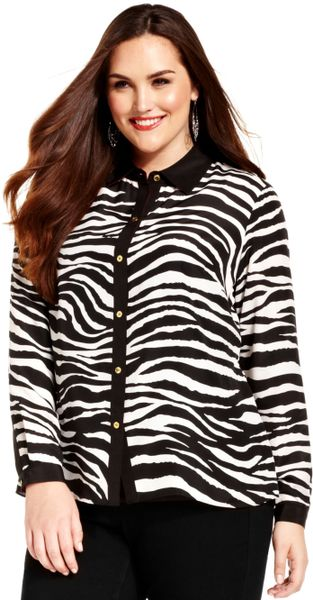 Zebra Blouse Topshop 43