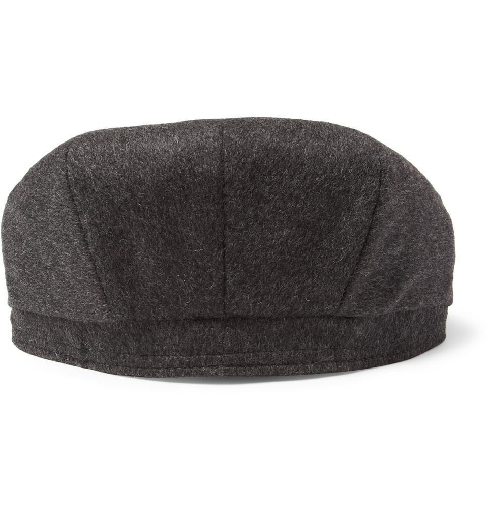 Lock Amp Co Oslo Loden Wool And Alpacablend Flat Cap In