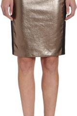 Mason by Michelle Mason Metallic Leather Paneled Skirt - Lyst