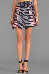 McQ by Alexander McQueen Pleat Drape Mini Skirt in Pink - Lyst