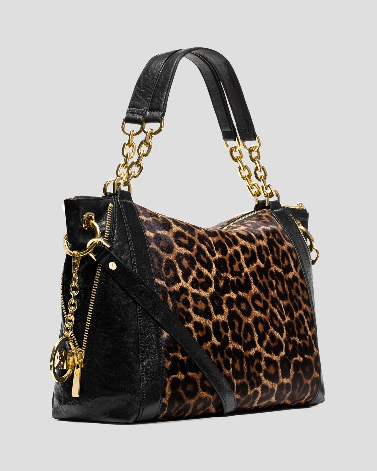37fae619c7b4 ... coupon code for lyst michael michael kors satchel stanthorpe large  cheetah print in brown 5468e f77c8