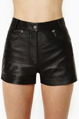 Nasty Gal  Vintage Leather Shorts - Lyst