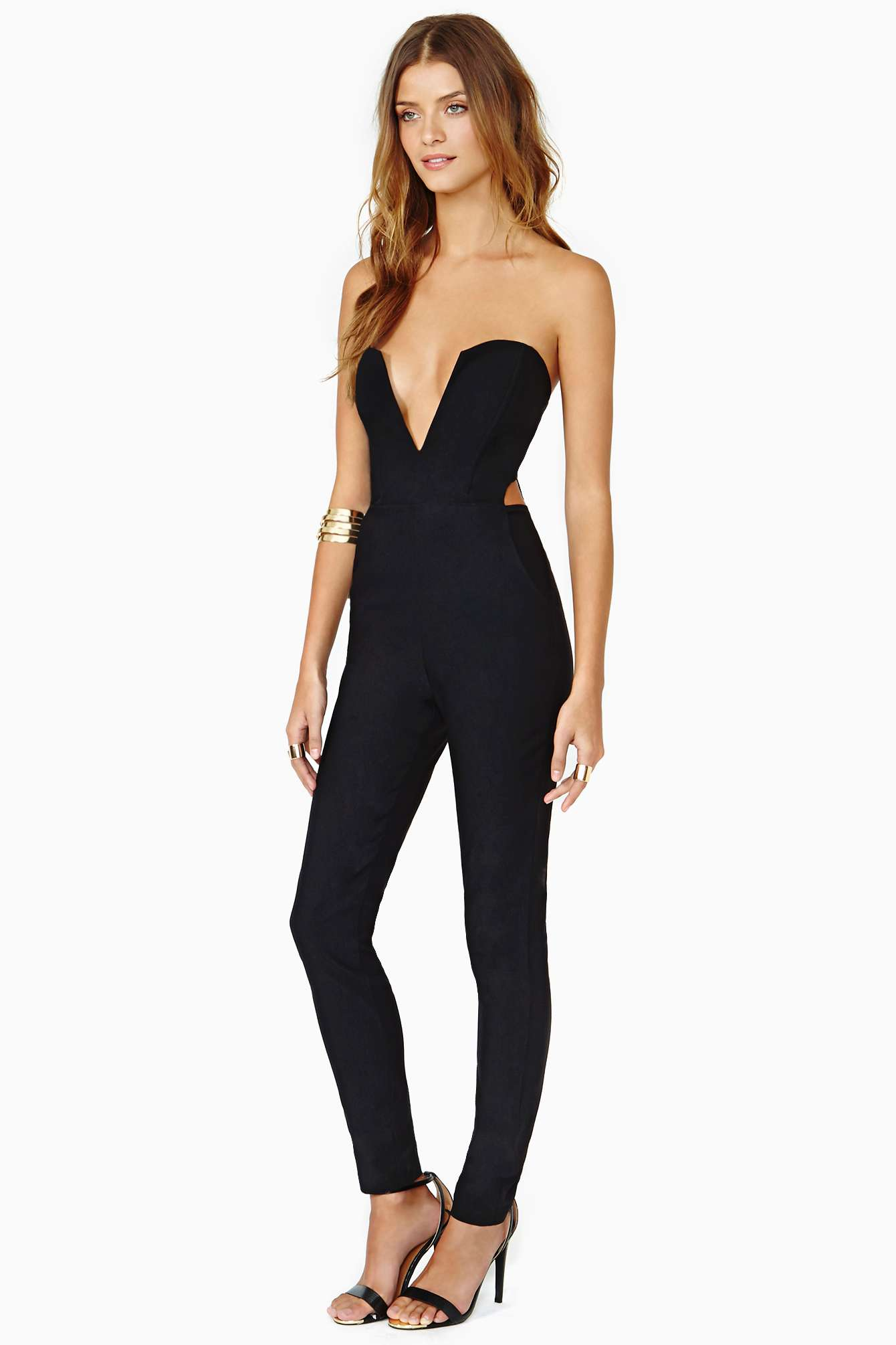 Lyst - Nasty Gal Midnight Run Jumpsuit In Black-9415