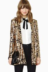 Nasty Gal Party Isnt Over Sequin Blazer - Lyst