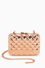 Nasty Gal Quilted Metal Clutch  - Lyst