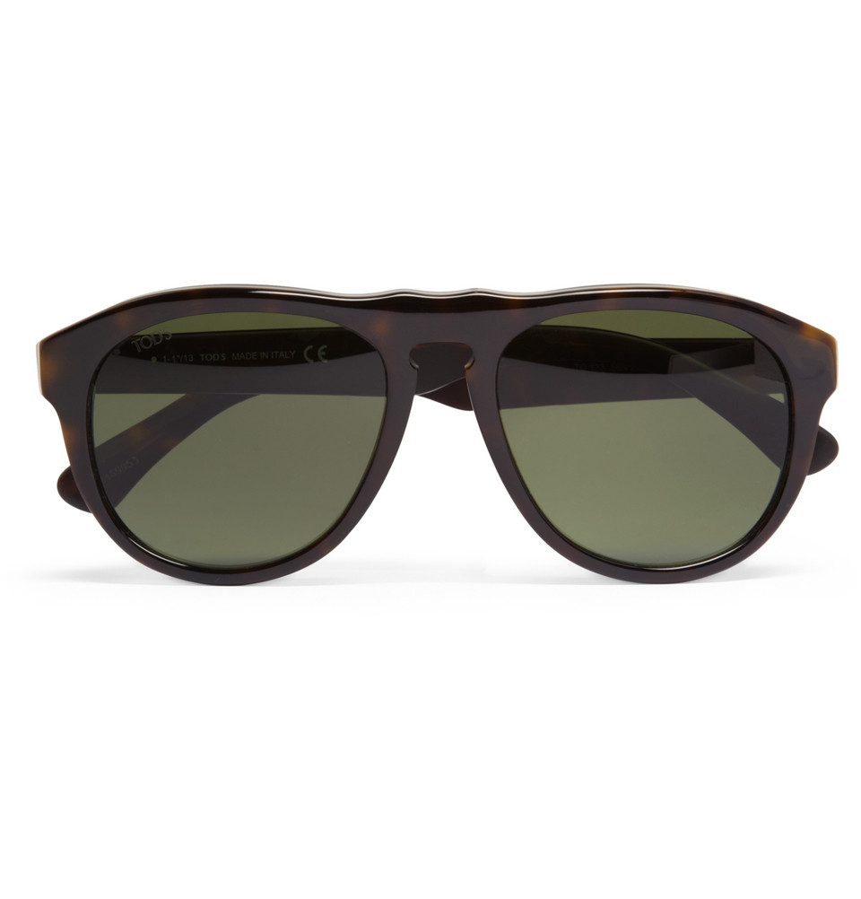 Tods Mens Sunglasses  tod s acetate dframe sunglasses in green for men lyst