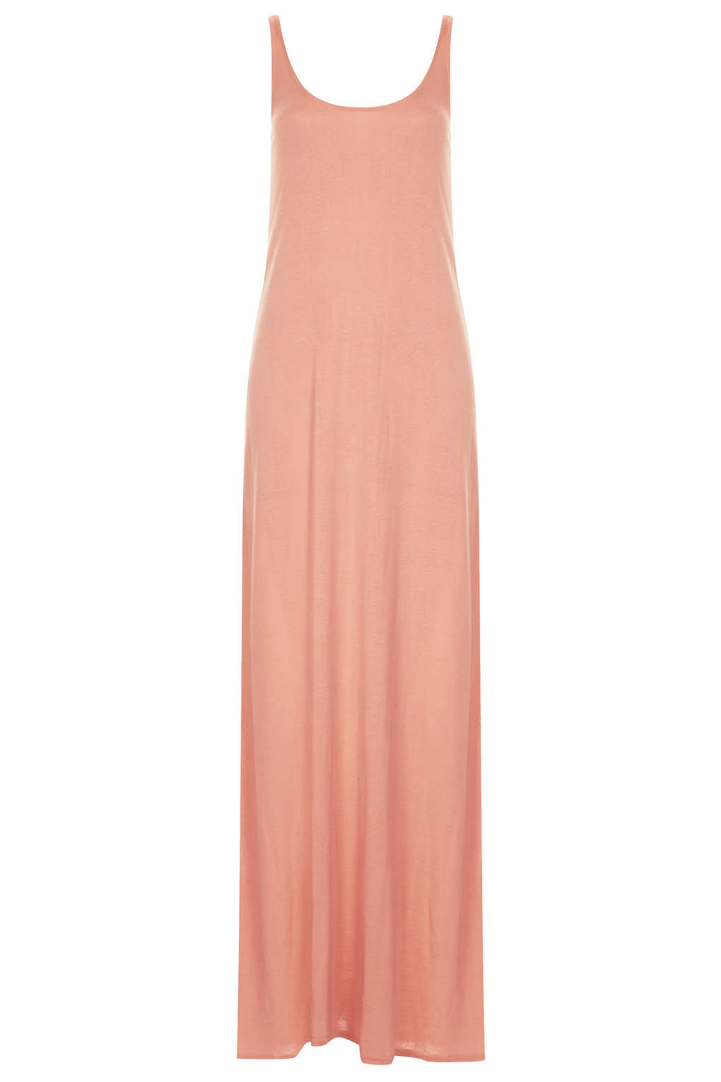 Topshop Plain Low Back Maxi Dress in Pink  Lyst