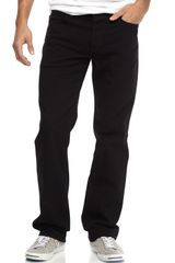 7 For All Mankind Standard Raven Black Jeans - Lyst