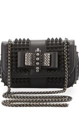 Christian Louboutin Sweet Charity Small Spiked Crossbody Bag Black - Lyst