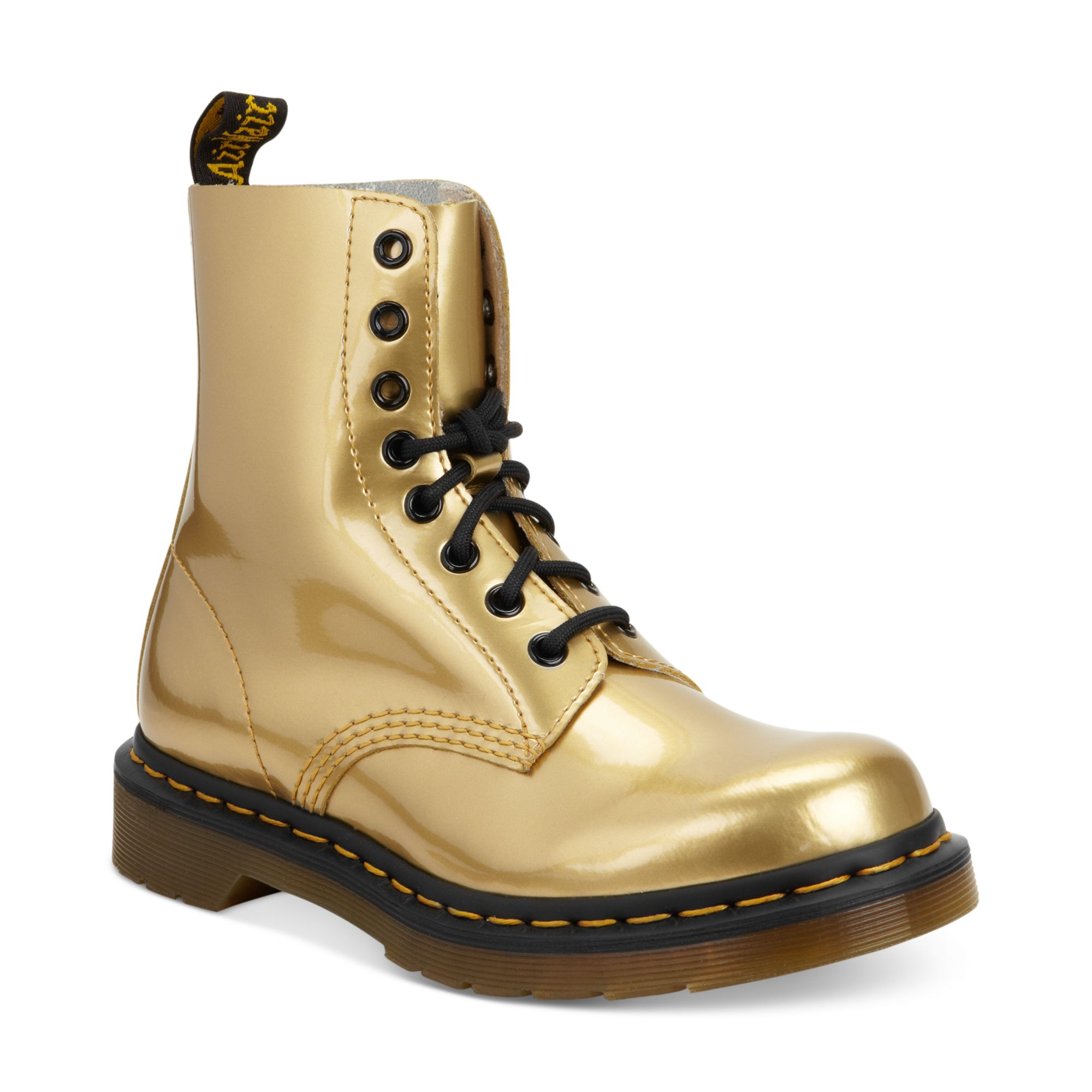 Dr Martens Ankle Boots In Gold Gold Metallic Lyst