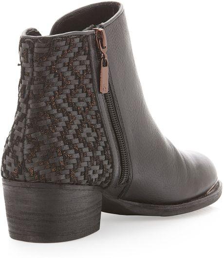 elliott lucca rosa wovenback ankle boot black in black 6