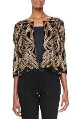 Haute Hippie Soutache Beaded Silk Jacket - Lyst