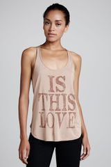 Haute Hippie Is This Love Printed Racerback Tank - Lyst
