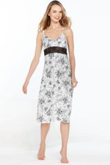 Jones New York Printed Microfiber Gown - Lyst