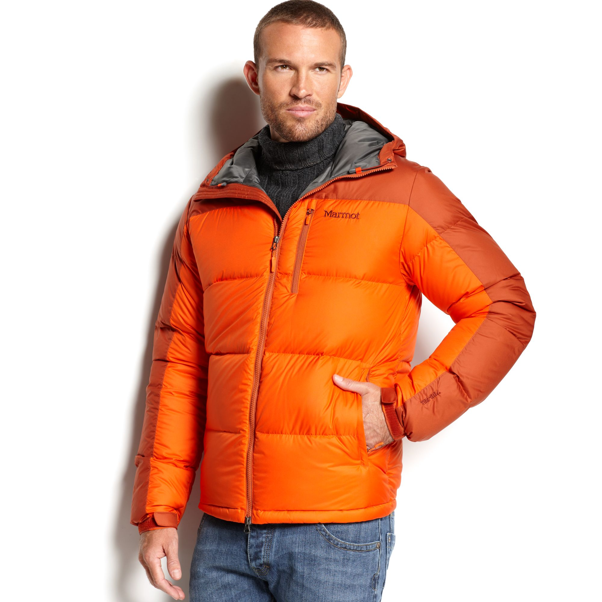 Lyst - Marmot Guides Hooded Waterproof Down Jacket in Orange for Men 905081e50984