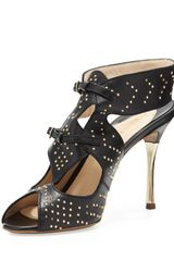 Nicholas Kirkwood Studded Leather Sandal Blackgold - Lyst