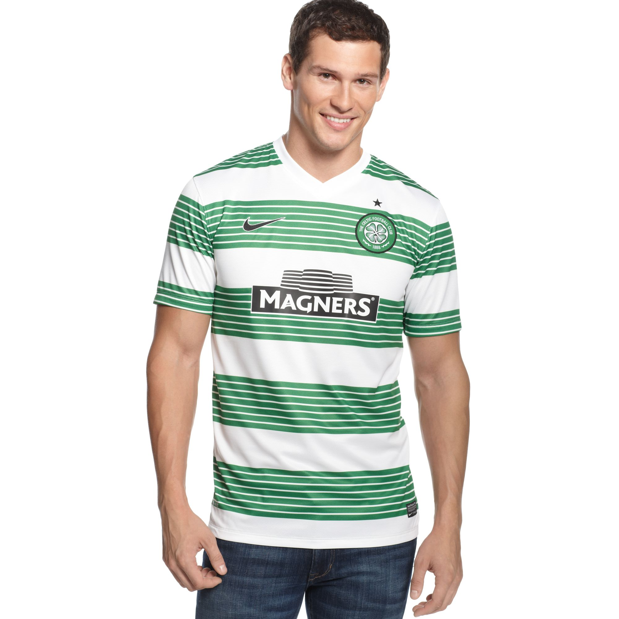 Nike celtic football club home replica jersey in green for for Irish jewelry stores in nj